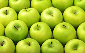 Фото Текстура Яблоки Зеленый Пища
