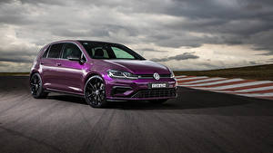 Фотографии Volkswagen Фиолетовый Металлик 2020 Golf R 5-door Final Edition автомобиль