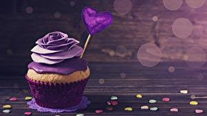 Фотография День святого Валентина Сладости Розы Капкейк кекс Доски Дизайн Сердечко