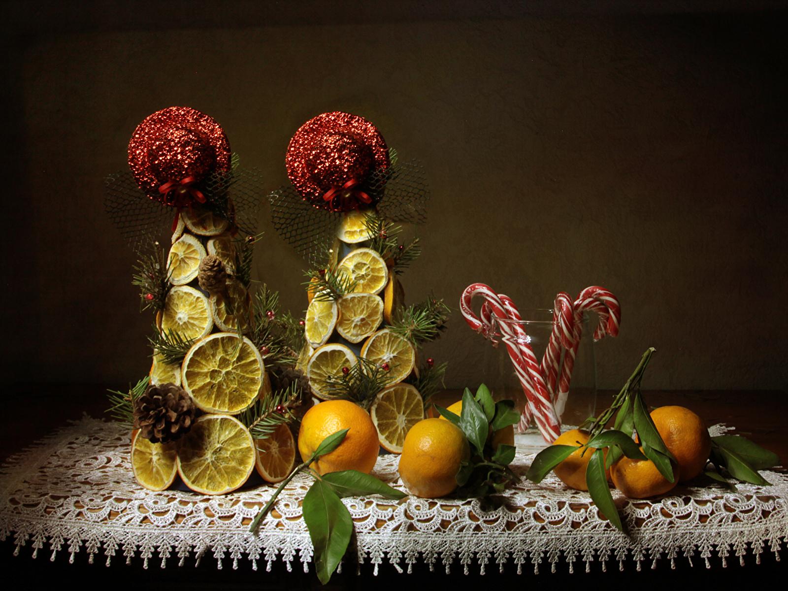 Картинка Мандарины Лимоны Пища Сладости дизайна 1600x1200 Еда Продукты питания сладкая еда Дизайн
