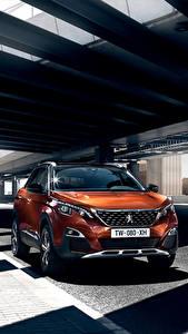 Фотографии Peugeot Оранжевых Металлик 2016 3008 автомобиль