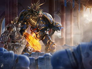 Фото Warhammer 40000 Воители Броне Мечи Guilliman, Lord of Ultramar компьютерная игра Фэнтези