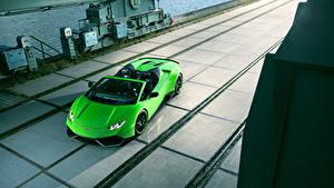 Обои Lamborghini Салатовый Родстер 2016 Novitec Torado Huracán LP 610-4 Spyder