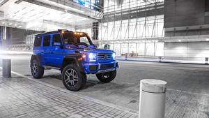 Фотография Мерседес бенц Гелентваген Синий 2017 G 550 4×4² Авто