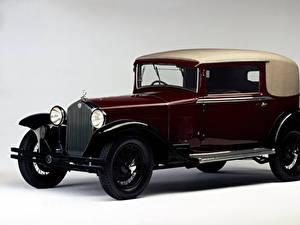 Фотография Альфа ромео Винтаж Бордовый Металлик 1929-33 6C 1750 GT Faux-Cabriolet Touring Автомобили