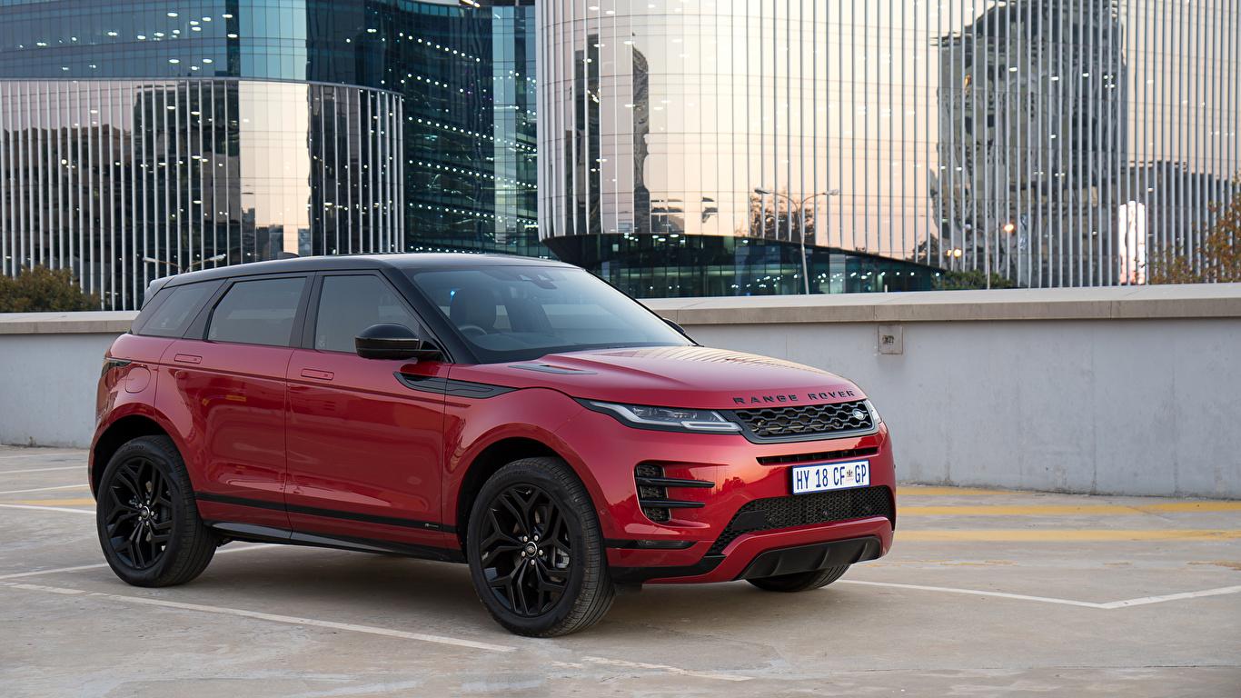 Фото Land Rover CUV 2019 Evoque P250 HSE R-Dynamic Black Pack Бордовый Металлик Автомобили 1366x768 Range Rover Кроссовер бордовая бордовые темно красный авто машина машины автомобиль
