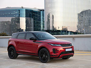 Фото Land Rover Бордовый Металлик Кроссовер 2019 Evoque P250 HSE R-Dynamic Black Pack Автомобили