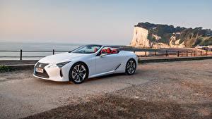 Фото Lexus Кабриолета Белый Металлик LC 500 Convertible, UK-spec, 2020 авто