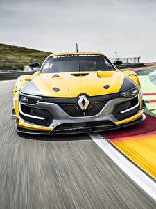 Фотографии Renault Спереди Едущая Желтый 2014 RS 01 Автомобили