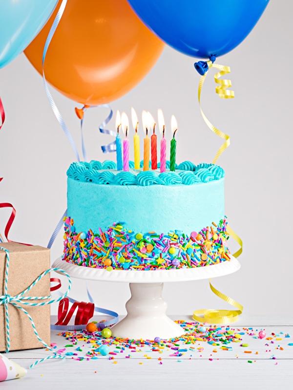 Фото День рождения Торты Пища Свечи 600x800 Еда Продукты питания
