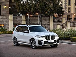 Картинка BMW Кроссовер Белый Металлик 2019 X7 M50d автомобиль
