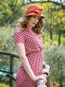 Обои Платья Шляпа Позирует Взгляд Боке Artemis Fauna молодая женщина