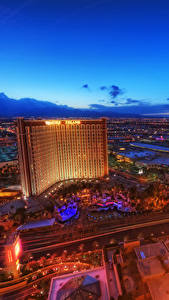 Фото Штаты Дома Ночные Лас-Вегас Сверху Невада город