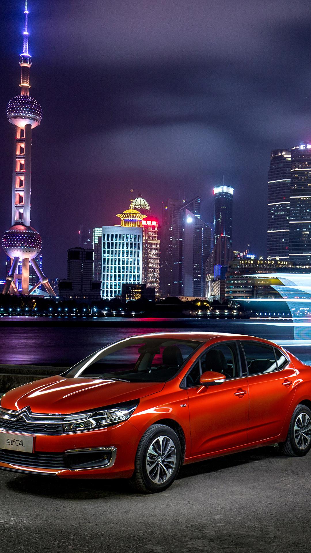 Фотографии Citroen 2016 C4 L Красный машины Металлик 1080x1920 Ситроен красных красные красная авто машина автомобиль Автомобили