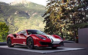 Фотография Феррари Стайлинг Красный Металлик 2018 488 Pista Tailor Made Piloti Ferrari
