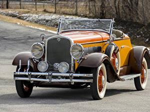 Фотография Ретро Кабриолет Желтый Металлик Родстер 1931 Hudson Greater Eight Sport Roadster