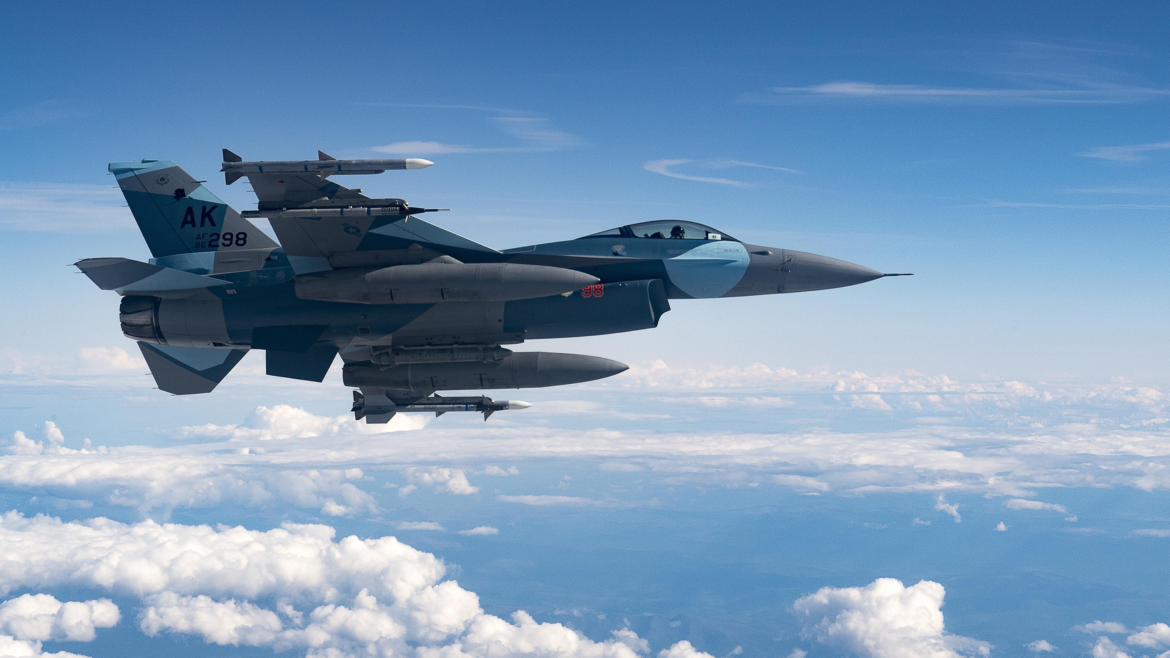 Обои Самолёт, F16. Авиация foto 14