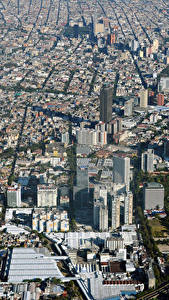 Обои Мексика Здания Мегаполиса Mexico City город