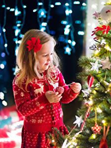 Картинка Праздники Рождество Девочки Бантик ребёнок