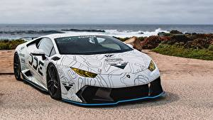 Картинка Lamborghini Стайлинг Белый Vorsteiner Huracan DDE