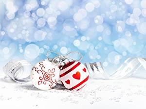 Картинки Рождество Шар Сердечко