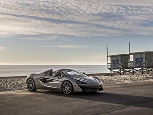 Обои Макларен Серый Родстер 2018 570S Spider Автомобили