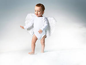Фотография Ангел Младенец Мальчики Крылья Дети