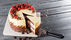 Фото Сладкая еда Торты Ягоды Доски Кусок Разделочная доска