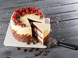 Фото Сладкая еда Торты Ягоды Доски Кусок Разделочная доска Еда