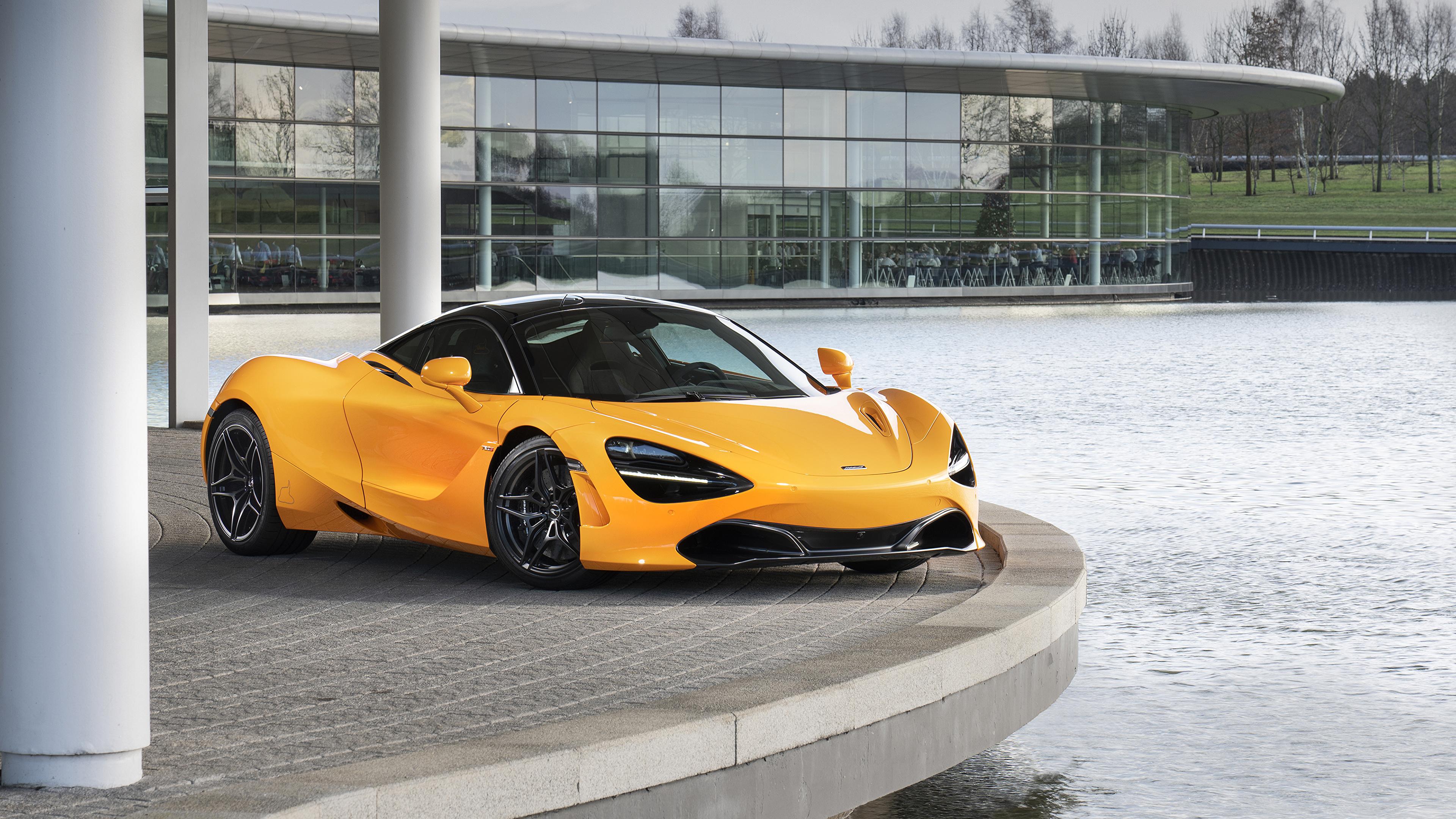 Фото Макларен 2019 MSO 720S Желтый Авто Металлик 3840x2160 McLaren Машины Автомобили