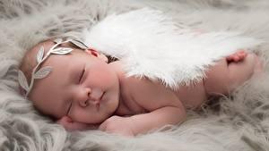 Картинка Ангел Младенцы Спит ребёнок