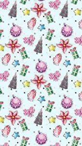 Картинка Текстура Новый год Елка Подарки