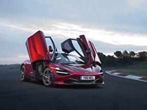 Фото McLaren Бордовые Металлик 2017 720S Coupe машины