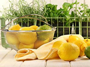 Картинки Лимоны Лайм Доски Корзина