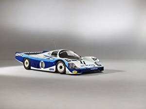 Фотографии Porsche Серый фон 956 C Coupe, 24 Hours of Le Mans, 1983 Автомобили