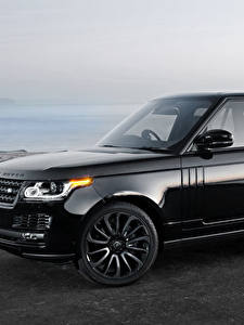Картинка Range Rover Черный Vogue Автомобили