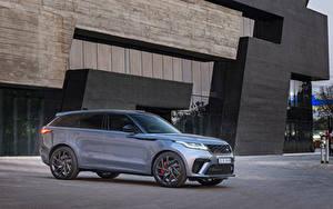 Фотографии Land Rover Кроссовер Серый Металлик 2019-20 Velar SVAutobiography Dynamic Edition Автомобили