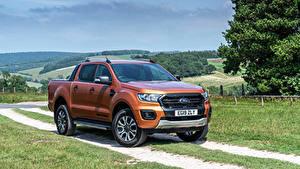 Обои для рабочего стола Форд Пикап кузов Коричневая Металлик Ranger Wildtrak UK-spec, 2019-- авто