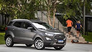 Обои Ford Серая 2018-19 EcoSport Titanium Latam