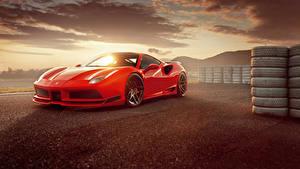 Фотография Феррари Красный Металлик 2017 Novitec Rosso 488 GTB N-Largo