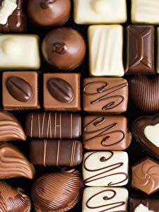 Картинки Сладости Конфеты Шоколад Вблизи