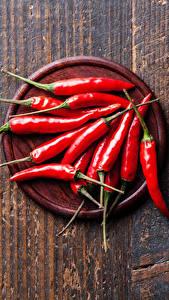 Картинка Овощи Перец Острый перец чили Доски Красных Пища