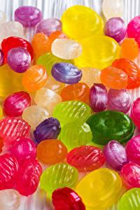 Картинка Леденцы Сладости Конфеты Много Разноцветные Продукты питания