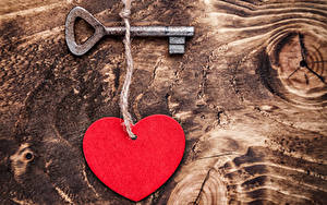 Фото День святого Валентина Доски Сердце Замковый ключ
