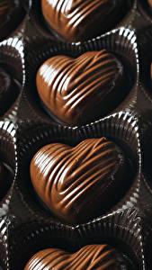 Фотография Сладости Конфеты Шоколад Сердце