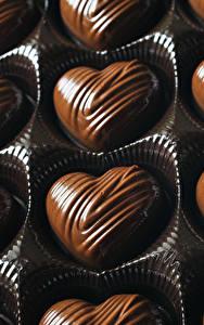 Фотография Сладости Конфеты Шоколад Сердце Еда