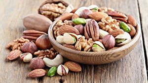 Картинки Орехи Много Грецкий орех Пища Еда
