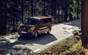 Обои Рено Металлик Коричневые 2019 Trafic Minibus LWB Worldwide машины
