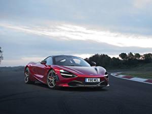 Обои McLaren Бордовый Металлик 2017 720S Coupe авто