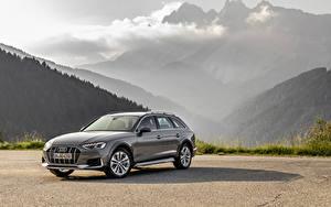 Картинка Audi Серый Металлик Универсал 2019 A4 allroad quattro автомобиль